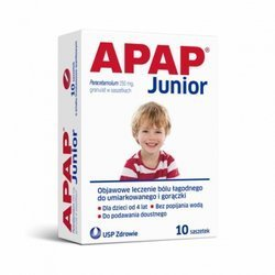 APAP JUNIOR 250mg- 10 saszetek