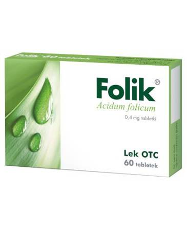 Folik - 0,4 mg - 60 tabletek