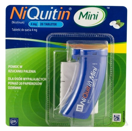 Niquitin Mini - 4 mg - 20 tabletek do ssania